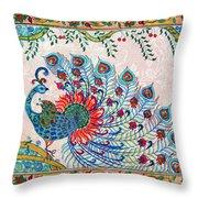 Rainbow Feathers Throw Pillow