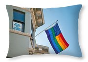 Rainbow Flag Marriage Equality Throw Pillow