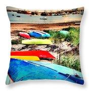 Rainbow Fleet Throw Pillow