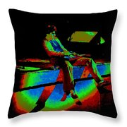 Rainbow Full Of Sound 1977 Throw Pillow