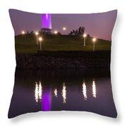 Rainbow Harbor Lighthouse Throw Pillow
