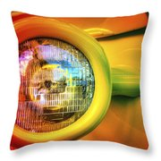 Rainbow Headlight Throw Pillow