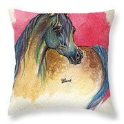 Rainbow Horse 2013 11 17 Throw Pillow