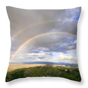 Rainbow In Jerome Throw Pillow
