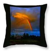 Rainbow In The Cloud Throw Pillow