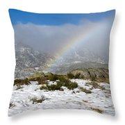 Rainbow In The Mountain Throw Pillow