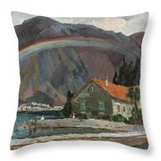 Rainbow In The Mountains Throw Pillow