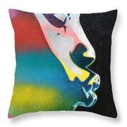 Rainbow Kiss Throw Pillow