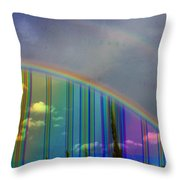 Rainbow Landscape Throw Pillow
