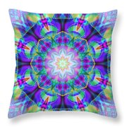 Rainbow Lotus Throw Pillow