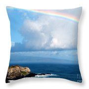 Rainbow Maui Hawaii Throw Pillow