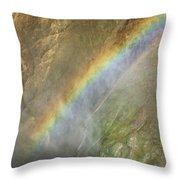 Rainbow Mist Throw Pillow