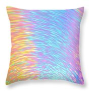 Rainbow Of Colors At Speed Throw Pillow