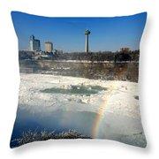 Rainbow Over Canada Throw Pillow