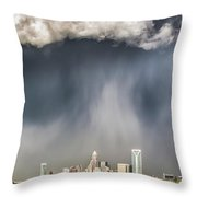 Rainbow Over Charlotte Throw Pillow