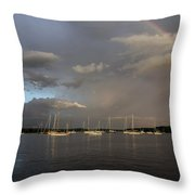Rainbow Over Essex Throw Pillow