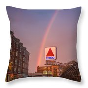 Rainbow Over Fenway Throw Pillow by Paul Treseler