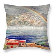 Rainbow Over Hermanus Throw Pillow