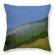 rainbow over Maggie valley Throw Pillow