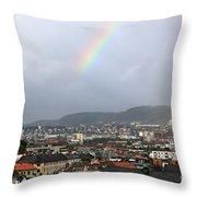 Rainbow Over Oslo Throw Pillow