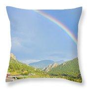 Rainbow Over Rollinsville Throw Pillow