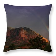 Rainbow Over Sedona  Throw Pillow