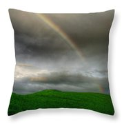 Rainbow Over The Mahoosucs Throw Pillow