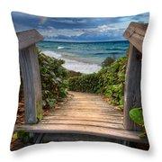 Rainbow Over The Ocean Throw Pillow