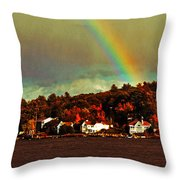Rainbow Over Winnipesaukee Two Throw Pillow