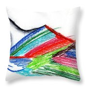 Rainbow Paintbrush Throw Pillow