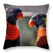 Rainbow Parrot Throw Pillow