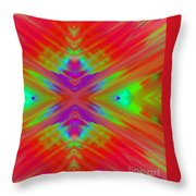 Rainbow Passion Abstract 2 Throw Pillow