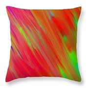 Rainbow Passion Abstract Upper Left Throw Pillow