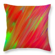 Rainbow Passion Abstract Upper Right Throw Pillow