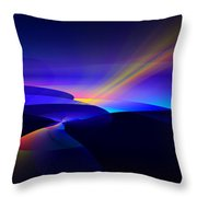 Rainbow Pathway Throw Pillow
