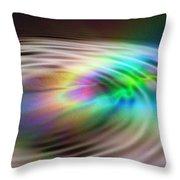 Rainbow Plunge Throw Pillow