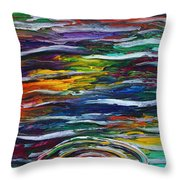 Rainbow Ripple Throw Pillow