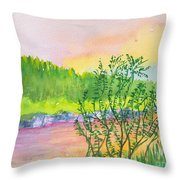 Rainbow River Throw Pillow