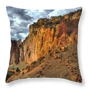 Rainbow Rocks And A River Throw Pillow