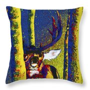 Rainbow Rut Throw Pillow