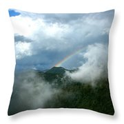 Rainbow Shrouded In Mist Throw Pillow