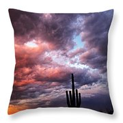 Rainbow Skies At Sunset  Throw Pillow