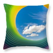 Rainbow Sky 2 Throw Pillow