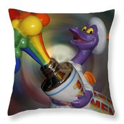 Rainbow Squirt Throw Pillow