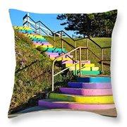 Rainbow Steps Throw Pillow