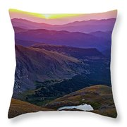 Rainbow Sunrise Throw Pillow