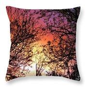 Rainbow Sunset Throw Pillow