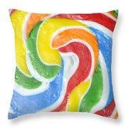 Rainbow Swirl Throw Pillow by Luke Moore