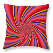 Rainbow Swirls Throw Pillow