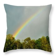 Rainbow To The Clouds Throw Pillow